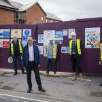 Bromsgrove MP Visit's Site at All Saints Road